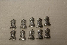 10  METAL CRAFT CHARMS (  OWL