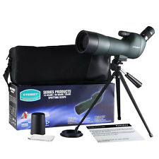 New!! Waterproof Angled Spotting Scopes 20-60x60 Zoom Spotting Scope with Tripod