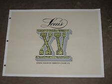 Hibriten Chair Company Louis XV Dining Room Vintage Oversize Booklet
