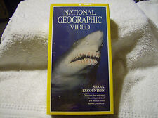 NATIONAL GEOGRAPHIC Shark Encounters VHS TAPE / BRAND NEW / FACTORY SEALED
