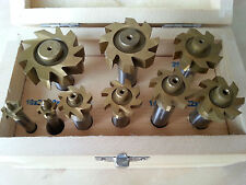 9 pc Woodruff Key Cutter HSS with TiN Coating from Amadeal