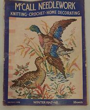 Vintage 1940s McCall Needlework Magazine Winter 1947-48 Knitting Sewing Crochet