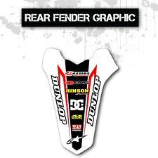 2007 - 2015 HONDA CRF 150R REAR FENDER GRAPHIC 150 R MOTOCROSS MX DECAL
