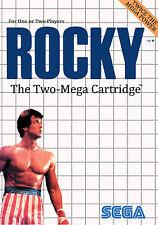 Rocky sega master system encadrée imprimer (man cave photo poster balboa jeu art)