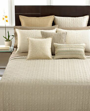Hotel Collection Celestial Quilted CAL KING BEIGE Coverlet Z585
