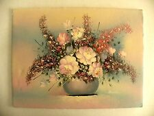 Vintage 12 x 16 Floral Painting on Foam Board