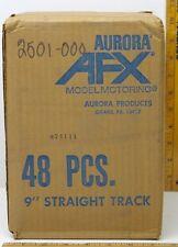 "48pc 1971 Aurora USA AFX 9"" Wiggle Ice Squiggle HO Slot Car Track 2501 Unused A+"
