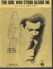 The Girl Who Stood Beside Me 1966 Bobby Darin Sheet Music