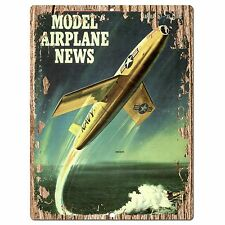 PP0309 Vintage Model Airplane Plate Sign Shop Store Cafe Restaurant Wall Decor