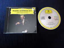 CD BRAHMS Carlo Maria Giulini Symphonie No. 2 DG DGG West-Germany Los Angeles SO