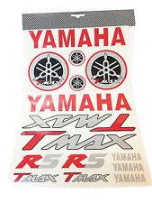 Kit Adesivi Yamaha T-Max scritte e loghi rosso/nero