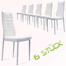 Weiße Esszimmerstühle Essgruppe Stuhlgruppe Küchen Stuhl Stühle 6er Set NEU