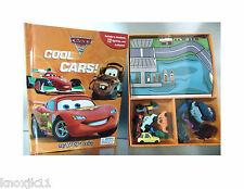 NEW Disney CARS MY BUSY BOOK & 12 FIGURINES & PLAY MAT Toy Set Cake Toppers!