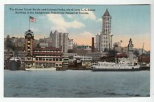 [51901] Circa 1915 POSTCARD GRAND TRUNK PACIFIC & COLEMAN DOCKS, SEATTLE, WASH.
