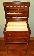 Vtg PERFECT SEWING CABINETS 2 Drawer Storage Wood End Table by Caswell-Runyun Co