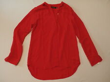 Trouve Women's Cutout Long Sleeve Blouse Red Mars Size XXS NWT $78
