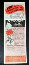 1957 OLD MAGAZINE PRINT AD, HARLEE, TASTEE-FREEZ STORE FRANCHISE, EASY TO START!