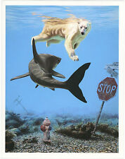 "Josh Keyes 15x12 Limited Edition Print ""Turbulence"" with COA Tiny Showcase"