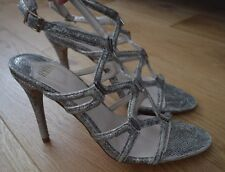 Stunning Faith Silver/Gold Snakeskin Strappy Sandals/Heels. Size 8. NEW!