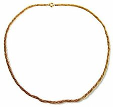 """14k Gold 16"""" Long Twisted Rope Neck Chain Is 2.5mm Wide And Weighs 8.3 Grams"""