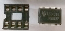5 x NE555 Timer Chips + 5 x IC Sockets FREE POSTAGE