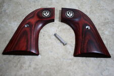 Ruger New Vaquero Smooth Rosewood Factory Revolver Grips - NEW