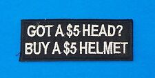 Got a Five Dollar Head Iron on Small Badge Patch for Biker Vest Jacket SB1050