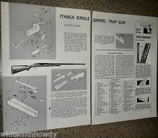 Ithaca Single Barrel Trap Gun Exploded View Parts List 2-page Assembly Article