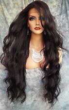 LACE FRONT WIG WAVY LONG WAVY GORGEOUS COLOR #2 NEW/TAGS USA SELLER 415