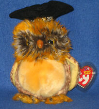 TY SMARTEST the OWL BEANIE BABY - MINT with MINT TAGS (PRICE STICKER)