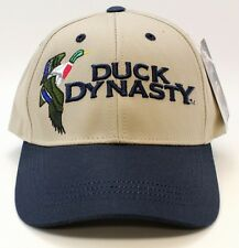 Duck Dynasty Hat in Tan/Blue Embroidered A&E Official Licensed