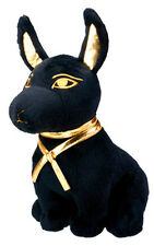 "EGYPTIAN GOD ANUBIS STUFFED PLUSH DOLL.9""in H LARGE SOFT CUDDLY CUTE COLLECTIBLE"