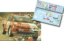 Decal 1:43 Kurt Gottlicher - FORD ESCORT COSWORTH - Rally El Corte Ingles 1996