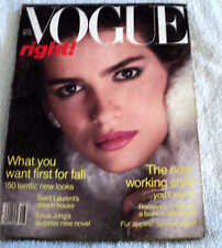 **Gia Carangi only American Vogue Cover August 1980** Gorgeous