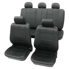 Luxury Leather Look Dark Grey Washable Seat Covers - Honda Civic 2005 Onwards