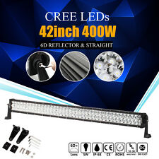 6D CREE 42INCH 400W LED WORK LIGHT BAR SPOT & FLOOD COMBO BEAM 4X4WD SUV UTE 42""