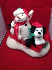 Hallmark 2007 Jingle Pals Animated Snowman, Penguin And Dog On A Sled