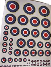 RAF Military Model Plane  Roundels Exterior Vinyl Decals Stickers Various Scales