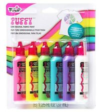 Tulip 20595 Dimensional Puffy Fabric Paint, 6-Pack Nontoxic - safe for everyone