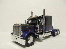 DCP 1/64 SCALE 379 PETERBILT STAND UP SLEEPER BLACK & PURPLE  (WITH GOLD STRIPE)