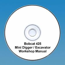 Bobcat 425 Mini Escavatrice Workshop Manuale