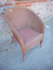 Nr. 3 Lloyd Loom Sessel Original  Label rosa Klassiker Design aus England