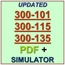 Cisco CCNP 300-101 300-115 300-135 Routing Switching Test Exam QA PDF+Simulator