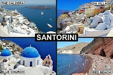 SOUVENIR FRIDGE MAGNET of SANTORINI GREECE