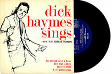 """DICK HAYMES SINGS WITH CY COLEMAN ORCH. - EP 7"""" 33 VINYL RECORD PIC SLV"""