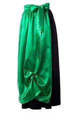 Satin Dirndlschürze grün zum Dirndl Trachtenkleid  Trachtenschürze lang NEU