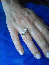 Anello KIARA oro bianco 750 contrariè perle e brillantini