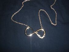 """One Direction Infinity Necklace 24"""" Gold Charm/Chain New"""