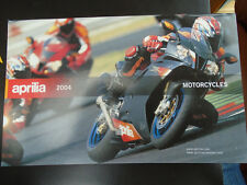 Aprilia Motorcycles & Scooter range brochure 2004 English & Italian text