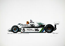 Keke Rosberg Williams FW08 Print by Michel Julin-Wallmoden